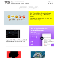 217 emojis confirmed for 2021; Studio Ghibli puts up 400 images from its films for free use; Apple iOS 14 lets you know if someone is spying on you; The Washington Post honors RBG with striking full-page artwork; LEGO lets you create Baby Yoda with n
