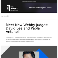 Meet new Webby Judges: MOMA's Paola Antonelli and Squarespace's David Lee