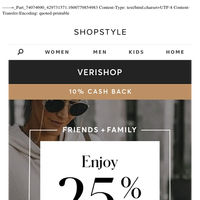 25% Off at Verishop — Friends & Family Sale