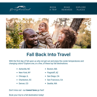 Is Fall Travel Calling?