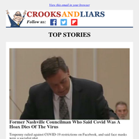 Crooks and Liars Daily Update For 09/22/2020