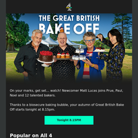 Your new Bake Off is about to start...