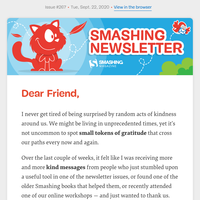 Smashing Newsletter #267: Accessibility, Inspiration and Debugging Strategies