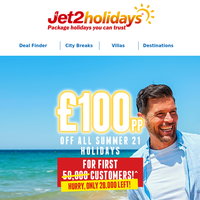 Remember to save £100pp on Summer 21