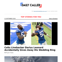 Colts Linebacker Darius Leonard Accidentally Gives Away His Wedding Ring