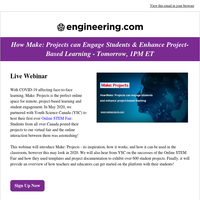 Webinar Tomorrow! How Make: Projects can Enhance Project-Based Learning