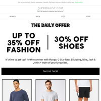 {NAME} 😎 Up to 35% OFF fashion + shoes 👕 👞 ☀️