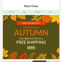 🍂 Autumn Savings Ending Soon