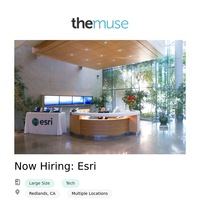 Now Hiring: Esri