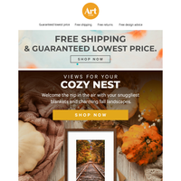 🧡 🖼️🍂Cozy up in the company of fall landscapes! Free shipping. Free returns. Free creative advice. 🧡 🖼️🍂