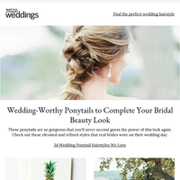Wedding-Worthy Ponytails to Complete Your Bridal Beauty Look
