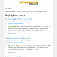 Trending posts from Wranglerforum.com!