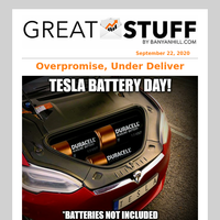 Tesla Battery Day: Batteries Not Included