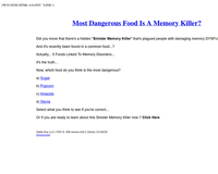 Most Dangerous Food Is A Memory Killer?
