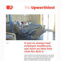 If you've always had employer healthcare, you have no idea how vital the ACA is