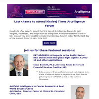 Last day to attend Artelligence Forum