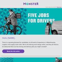 5 Driving Jobs Hiring