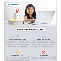 {EMAIL}, Join 1 million+ students_worldwide,certified by WhiteHat Jr.