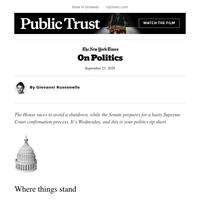 On Politics: The House Moves to Avert a Shutdown
