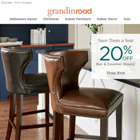 Save Them a Seat: 20% OFF stools (Halloween too)