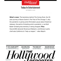 The Showdown Behind 'The Comey Rule'; Why Filmmakers Are Fretting About Theatrical; The 20 Year Journey of 'The Trial of the Chicago 7'