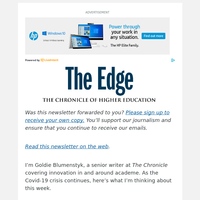 The Edge: Admissions Concerns in the Covid-19 Era Center on Colleges' Survival
