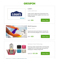 Lowe's eGift Card and More