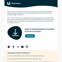 Back-to-School Download: What Your Child's Teacher Needs to Know
