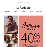 Autumn Event: Up to 40% off