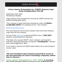 Victory Square Technologies Inc. (VSQTF) Releases Huge Game-Changing News This AM