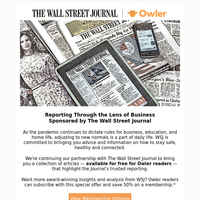Our Favorite Articles from WSJ - Free for Owler Members