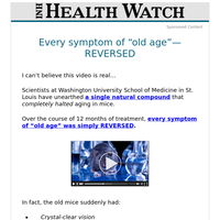 """Every symptom of """"old age""""—REVERSED"""