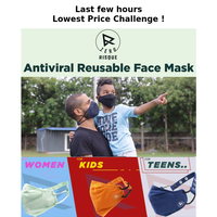 #Amazon Last DAY SALE & Buy Swiss Antiviral Technology Reusable FACE MASK @Lowest Price !!