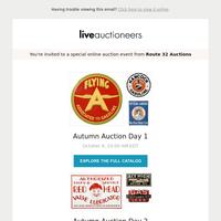 Route 32 Auctions   Autumn Auction