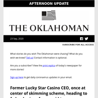 Former Lucky Star Casino CEO headed to prison; Flix Brewhouse offers easy date night; officer indicted in Breonna Taylor death and more