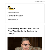 Ginsburg's 'Fervent' Wish