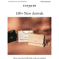 New Arrivals, Just Released!