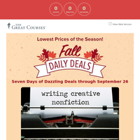Spectacular Deal of the Day - Writing Creative Nonfiction