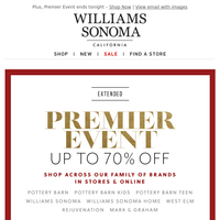 NEW arrivals for the season! Only at Williams Sonoma