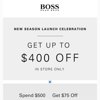 $400 Off Your In Store Purchase