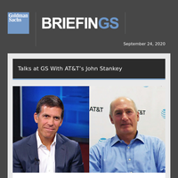 Talks at GS With AT&T CEO...Battle for Our Screens...TPG's Jim Coulter