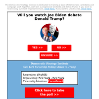 Will {NAME} watch Joe Biden debate Donald Trump?