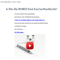 Is This The WORST Food You Can Possibly Eat?