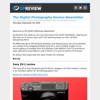 Digital Photography Review Newsletter: Thursday, September 24, 2020