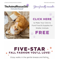 Your Thursday Reminder: Click Today + Five-Star Fall Fashion Inside