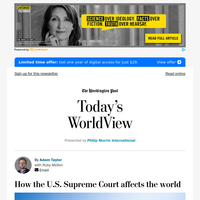 Today's WorldView: How the U.S. Supreme Court affects the world