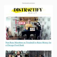 Nun Runs Marathon on Treadmill to Raise Money for Food Bank