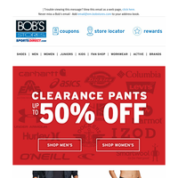 CLEARANCE --> Up to 50% OFF Pants