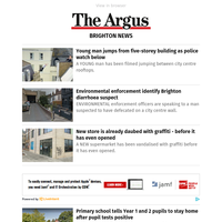 Brighton News: Young man jumps from five-storey building as police watch below