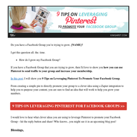[NEW BLOG] 9 Tips on Leveraging Pinterest To Promote Your Facebook Group